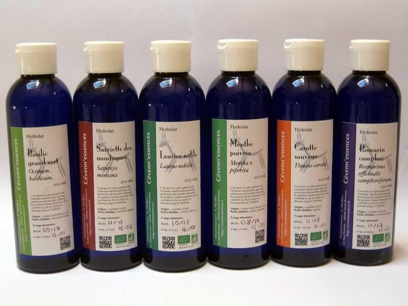 bouteilles d'hydrolats Cévenn'essences
