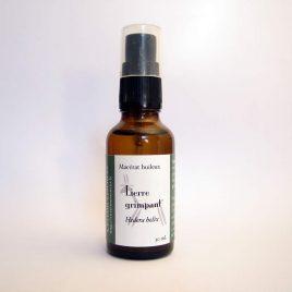 macérat huileux de lierre bouteille avec spray