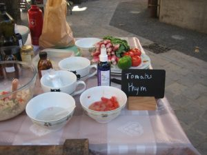 salade de tomates au thym